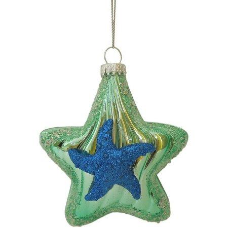 Brighten the Season Layer Glass Starfish Ornament