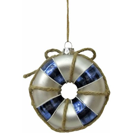 Brighten the Season Glass Life Bouy Ornament
