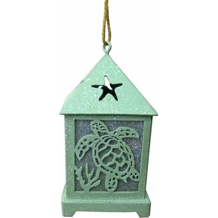 Brighten the Season Blue LED Lantern Ornament