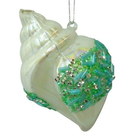 Brighten the Season Beaded Conch Ornament