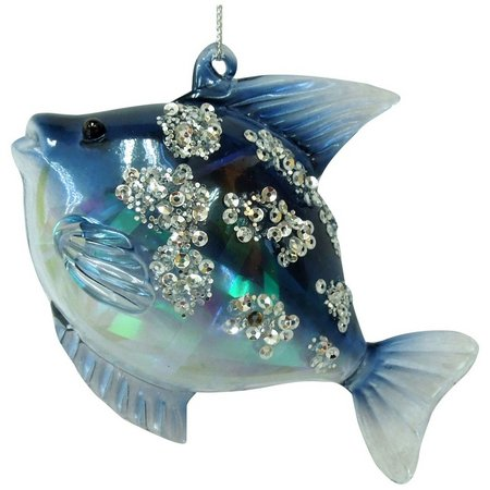 Brighten the Season Painted Glass Fish Ornament