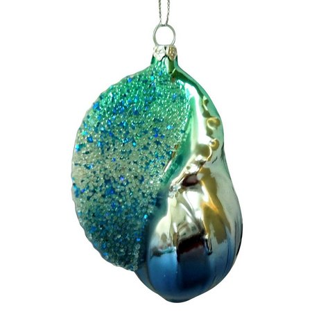 Brighten the Season Painted Glass Conch Ornament
