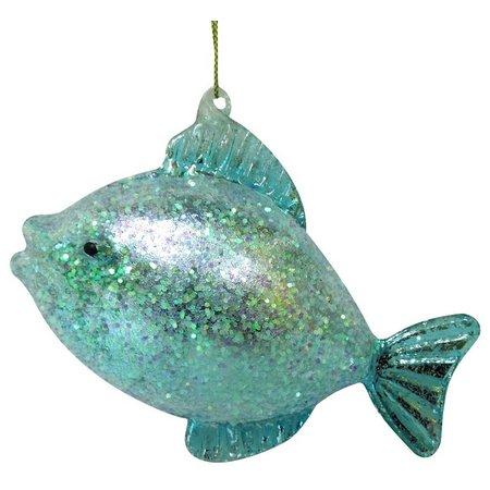 Brighten the Season Blue Glitter Fish Ornament