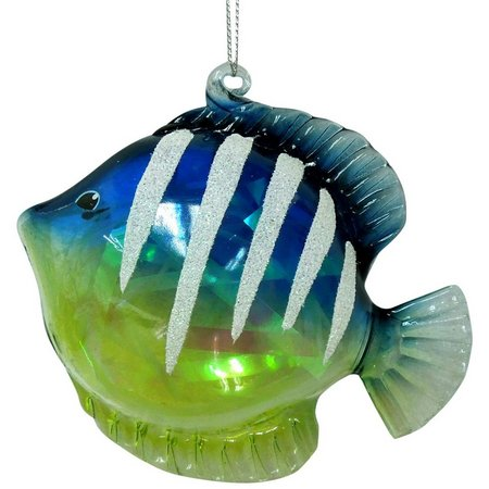 Brighten the Season Stripe Tropical Fish Ornament