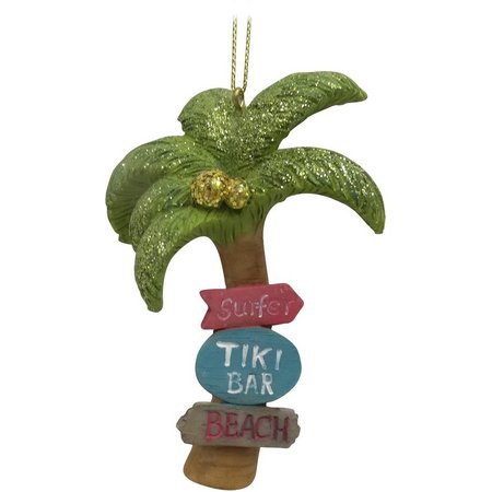 Brighten the Season Palm Tree with Signs Ornament