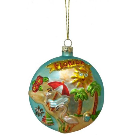 Brighten the Season Florida Beach Disk Ornament