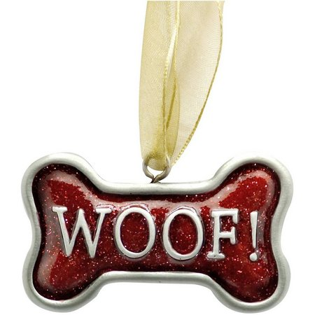 Brighten the Season Woof Bone Shape Ornament