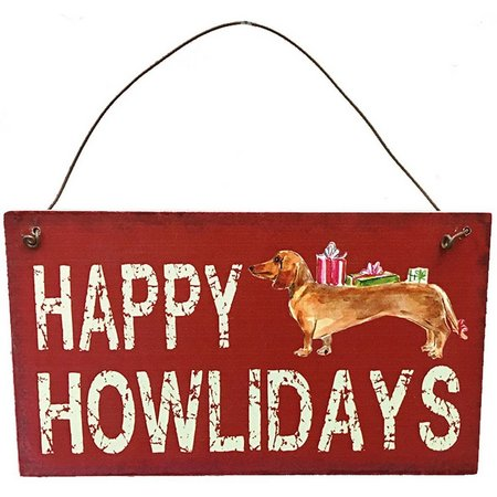 Brighten the Season Howlidays Wall Sign Ornament