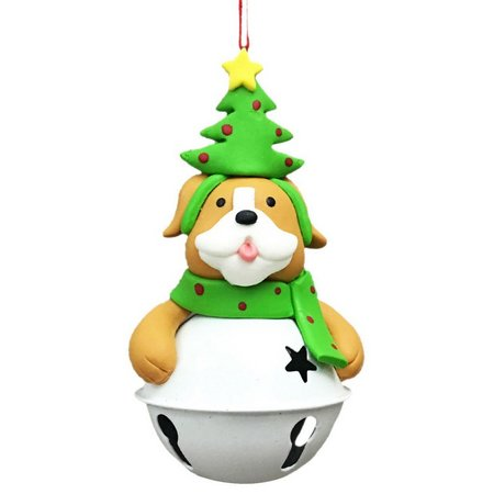 Brighten the Season Dog with Bell Ornament