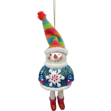 Brighten the Season Snowman with Sweater Ornament