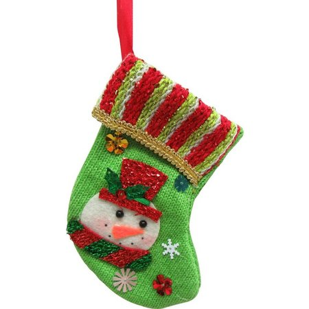 Brighten the Season Mini Snowman Stocking Ornament