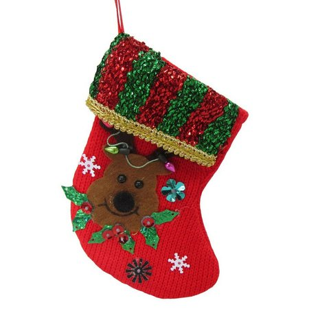 Brighten the Season Mini Stocking with Reindeer