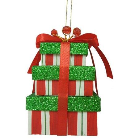 Brighten the Season Stripe Stacked Gift Boxes