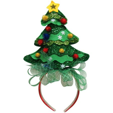 Brighten the Season Christmas Tree Headband