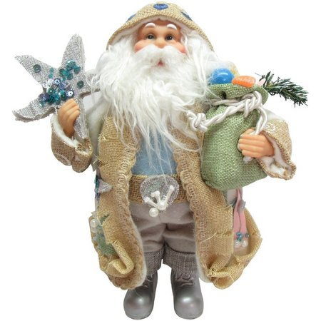 Brighten the Season Fabric Starfish Santa Figurine
