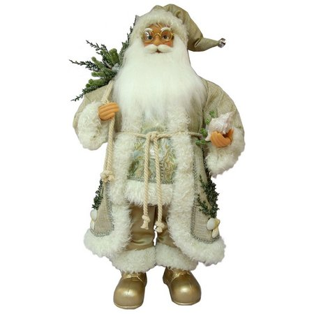 Brighten the Season Fabric Santa with Branch
