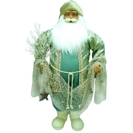 Brighten the Season Fabric Santa With Shell