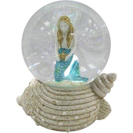 Brighten the Season Mermaid On Shell Water Globe
