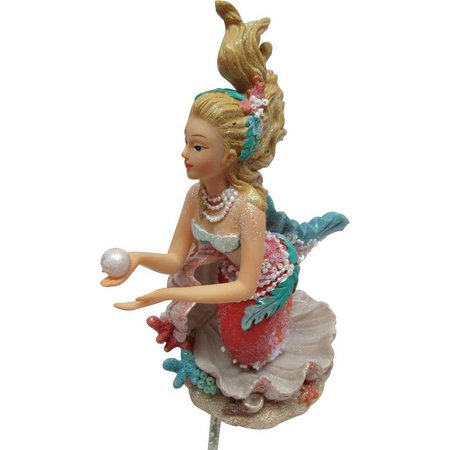 Brighten the Season Mermaid on Shell Figurine