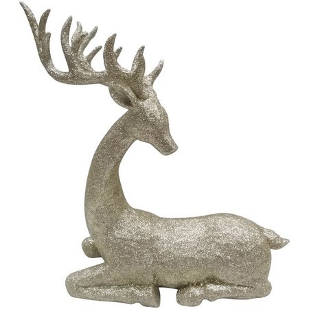 Brighten the Season Gold Sitting Reindeer Figurine