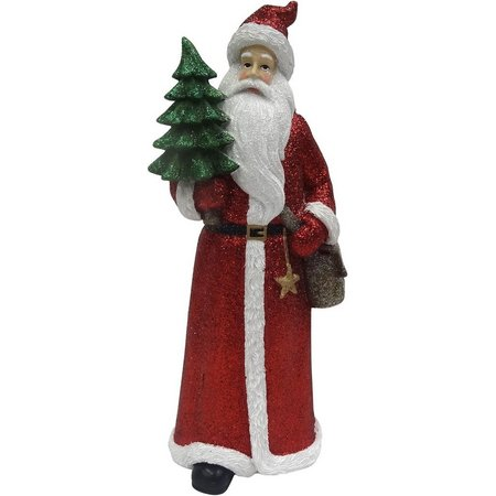 Brighten the Season 12.5'' Red Santa Figurine