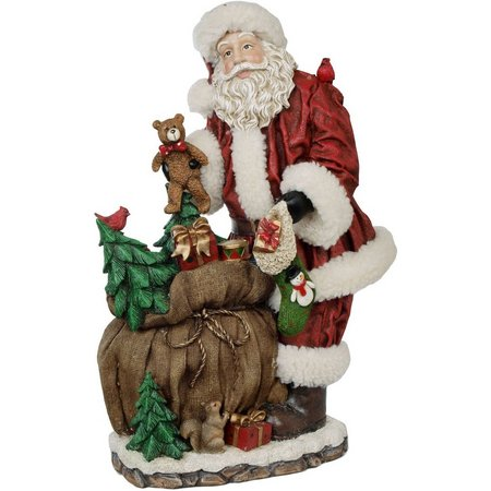 Brighten the Season 18.5'' Santa with Bag Figurine