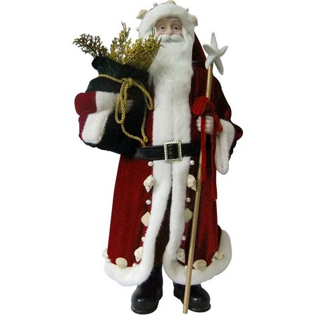 Brighten the Season 26'' Fabric Red Santa Figurine