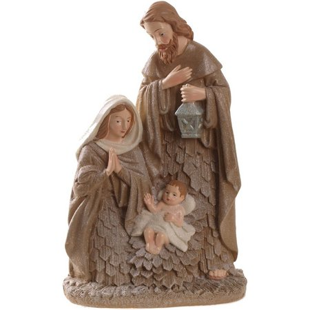 Brighten the Season Bark Holy Family Decoration