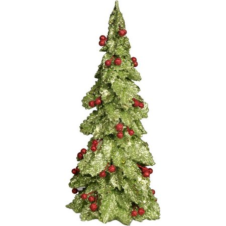 Brighten the Season 12'' Green Glitter Tree Figure