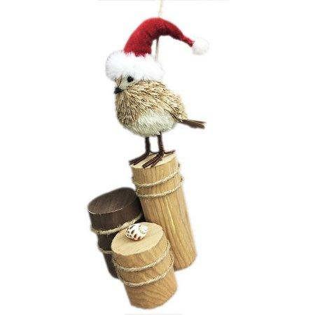 Brighten the Season Sisal Bird on Post Figurine