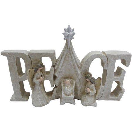 Brighten the Season Peace Holy Family Sign
