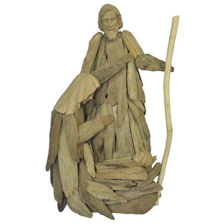 Brighten the Season Driftwood Holy Family Figurine