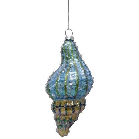 Brighten the Season Glass Conch Shell Ornament