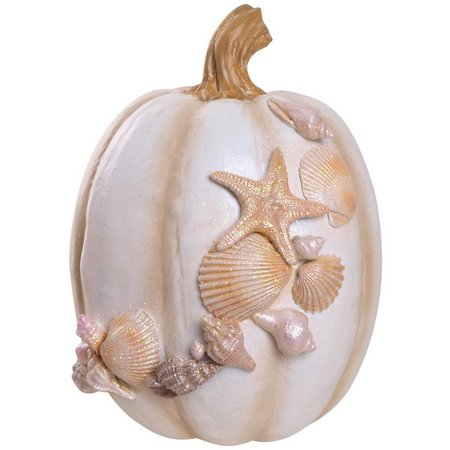 Brighten the Season 7.5 Shell Pumpkin Figurine