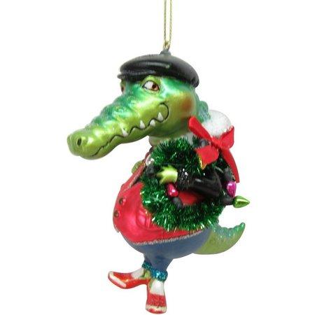 Brighten the Season Glass Mr Gator Wreath Ornament