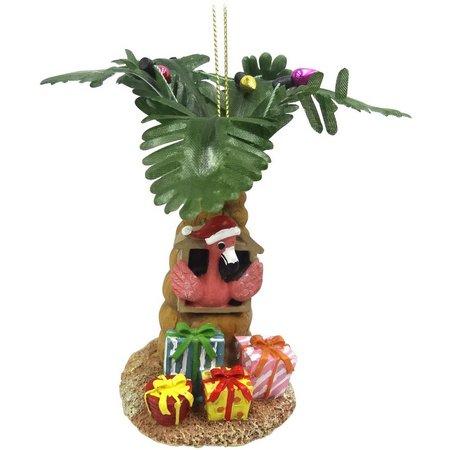 Brighten the Season Flamingo in Tree Ornament