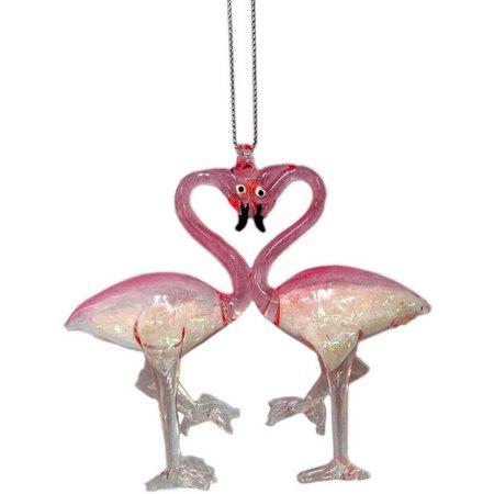 Brighten the Season Twin Flamingo Ornament