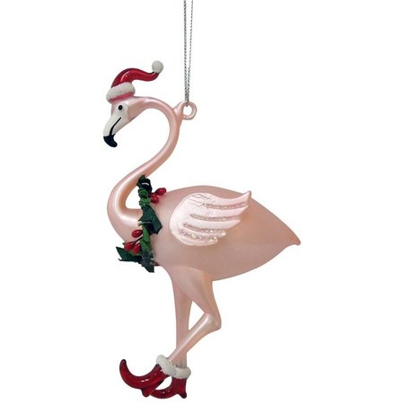 Brighten the Season Flamingo with Hat & Boots