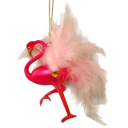 Brighten the Season Flamingo with Jewel & Feather