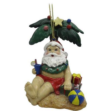 Brighten the Season Palm Tree Santa Ornament