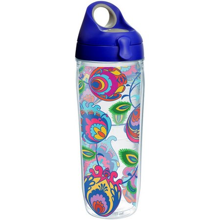 Tervis 24 oz. Folksy Flowers Blue Water Bottle