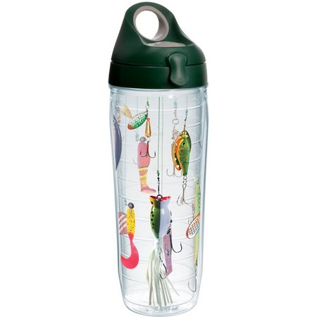 Tervis 24 oz. Fishing Lures Green Water Bottle