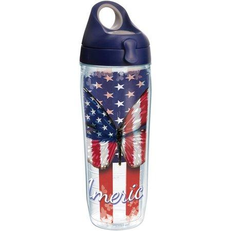 Tervis 24 oz. America Butterfly Blue Water Bottle