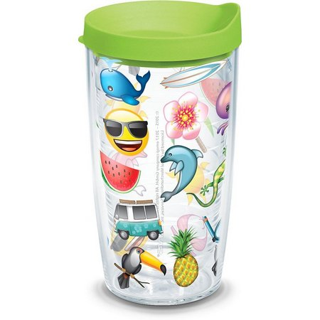 Tervis 16 oz. Emoji Tropical Tumbler With Lid
