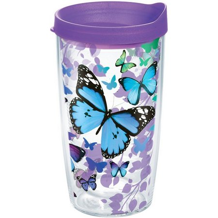 Tervis 16 oz. Blue Butterfly Travel Tumbler