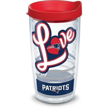 Tervis 16 oz. New England Patiots Love Travel