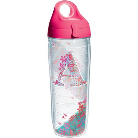 Tervis 24 oz. Initial ''A'' Floral Water Bottle