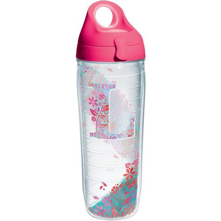 Tervis 24 oz. Initial ''L'' Floral Water Bottle