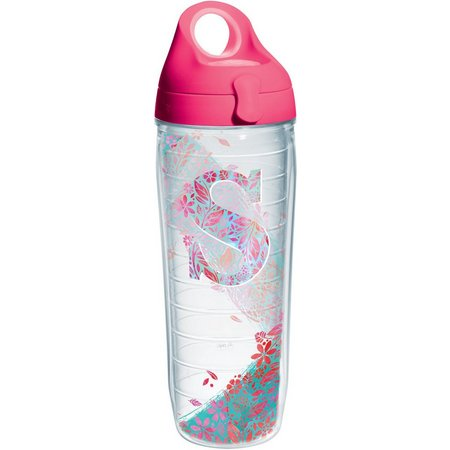 Tervis 24 oz. Initial ''S'' Floral Water Bottle