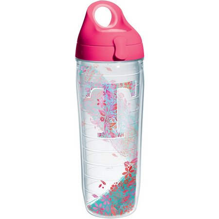 Tervis 24 oz. Initial ''T'' Floral Water Bottle
